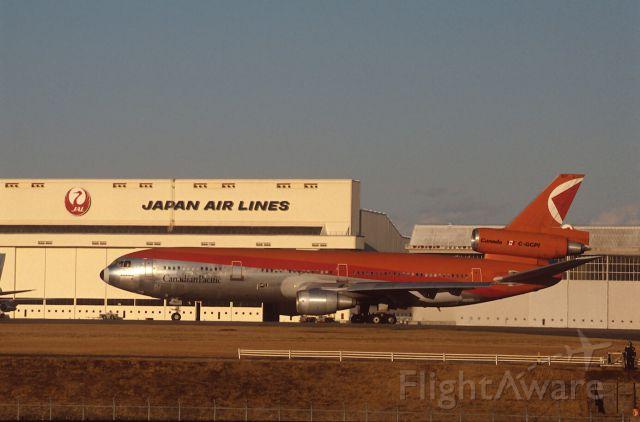 McDonnell Douglas DC-10 (C-GCPI) - Departure at Narita Intl Airport Rwy34 on 1987/01/25