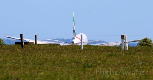 Airbus A380-800 (A6-EDD) - Final approach of EK412 to runway 23L.  It