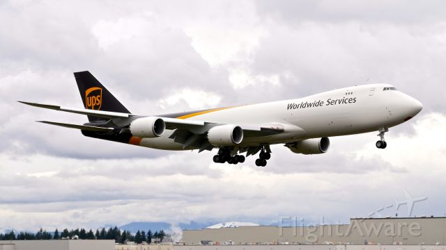 BOEING 747-8 (N626UP) - BOE689 on final to Rwy 16R to complete a flight test on 3.5.21. (ln 1563 / cn 65781).
