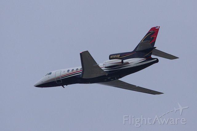 Dassault Falcon 50 (N116GB) - Departing 7L after Daytona 500.