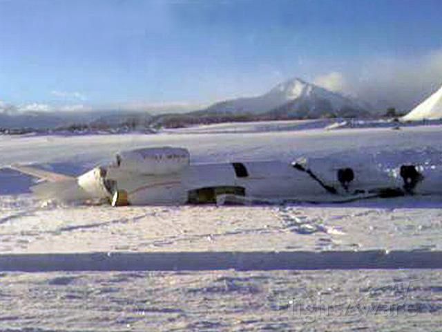 Learjet 45 (N279AJ) - Unfortunate end to a nice airplane, crew walked away!