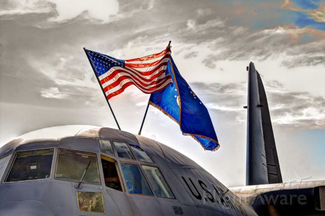 Lockheed C-130 Hercules — - A C-130 sits on the ramp at a Tyndall AFB airshow.