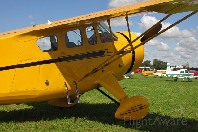 HOWARD (1) Nightingale (N22424) - A 1940 Howard DGA-15P, powered by a Pratt and Whitney R-985. Taken at the Wheels and Wings fly-in at Osceola WI.