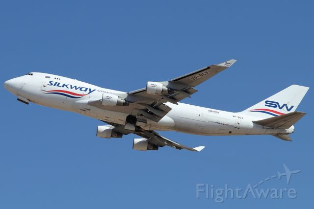 Boeing 747-400 (VP-BCV) - 17/09/2021: Cargo flight to Baku (GYD).