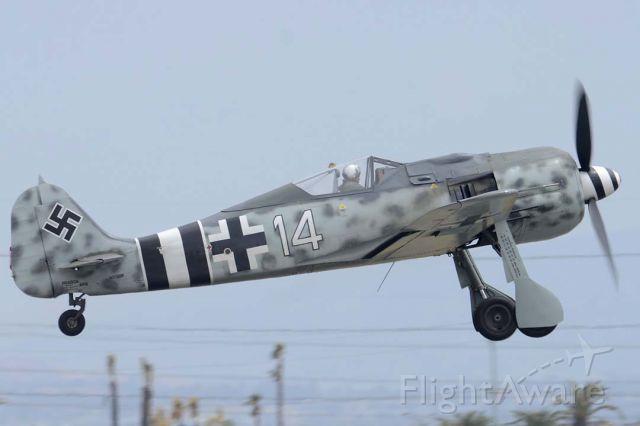 FOUR WINDS 192 (N190RF) - Focke Wulf Flugzeugbau FW 190A-9 N190RF takes offat the Planes of Fame Airshow.