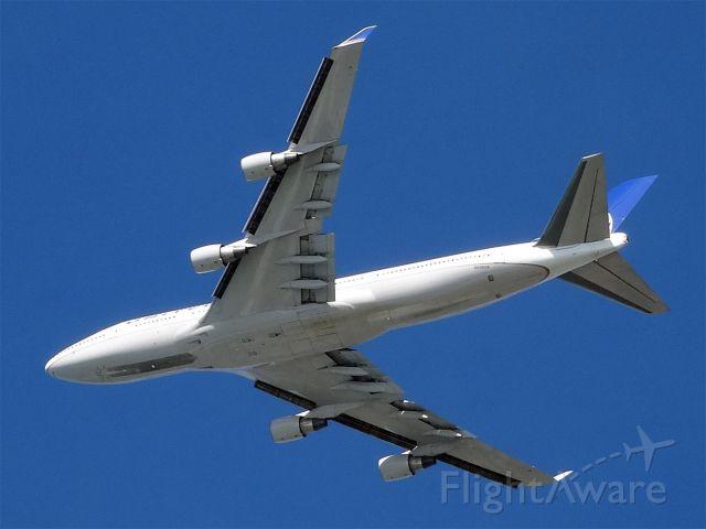 Boeing 747-400 (N120UA) - Tail number N120UA, KSFO-->VHHH, 20150213-135255