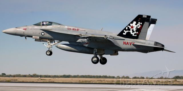 """McDonnell Douglas FA-18 Hornet (16-5906) - United States Navy McDonnell Douglas F/A-18E Super Hornet (165906)<br />VFA 97 (Strike Fighter Squadron Ninety Seven) """"Warhawks""""<br />Current Home Port: NAS Lemoore; Lemoore, CA<br />Being reassigned to the newest aircraft carrier in the USN's fleet, USS Gerald R. Ford (CVN 78) .... Carrier Air Wing Eight (CVW 8), NAS Oceana.<br />This aircraft is the VFA 97 CAG bird, but because the Warhawks are being reassigned from the USS George H. W. Bush to the USS Gerald R. Ford (see Comment below), new titles have not yet been added.<br />* First photo of 165906 to be entered into the FA gallery. *"""