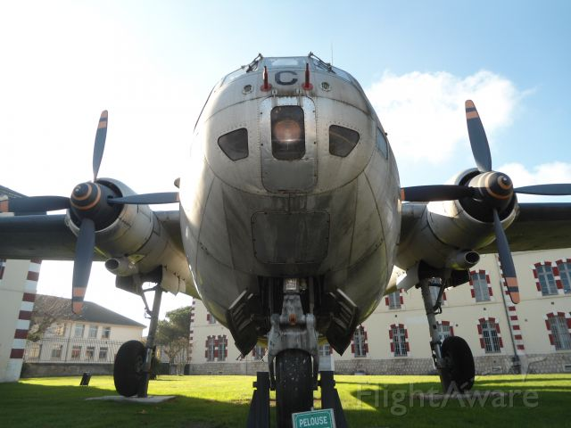 NORDFLUG Noratlas (N63BP) - Famed Noratlas Nord 2501 No 111, named after the Viscounty of Bigorre,  served under the 35th Airborne, displayed outside the barracks of  historical 1st (now: Paratroop) Hussar Regiment, founded in 1720, in Tarbes, France, one of France