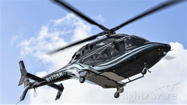 Bell 429 GlobalRanger (N175KH) - The Hennycopter Bell 429 Global ranger N175KH with landing gear seen inbount for landing on a ferry flight to the far south!
