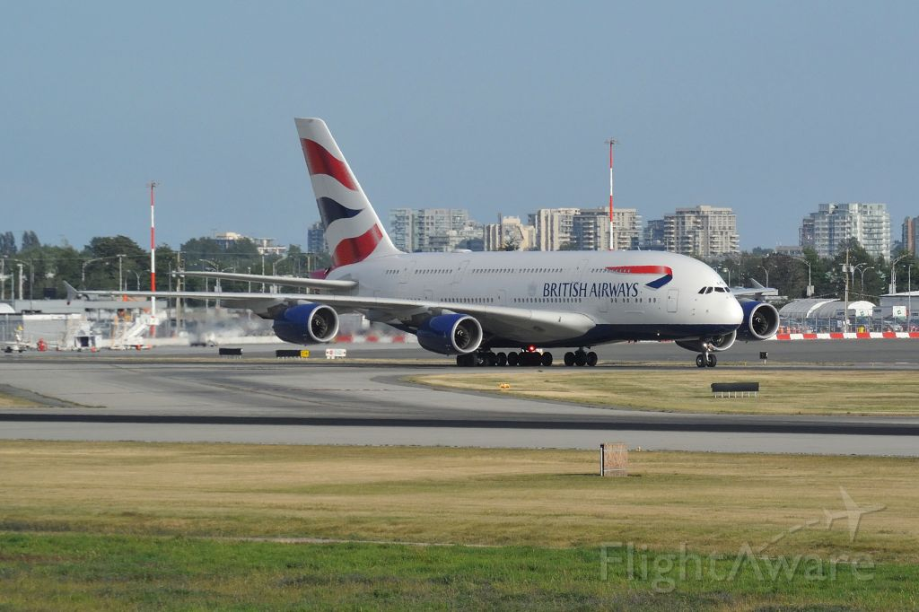 Airbus A380-800 (G-XLEH) - taxiing to terminal