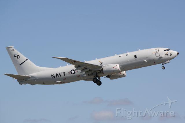 Boeing P-8 Poseidon (16-8763) - US Navy P-8 Poseidon (168763) from NAS Jacksonville departs Sarasota-Bradenton International Airport