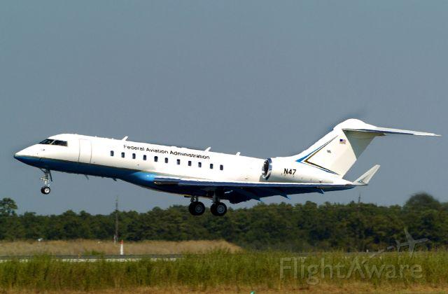 Bombardier Global 5000 (N47) - FAA Tech Ctr R&D Aircraft