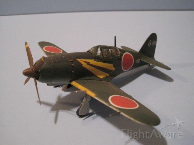 """— — - Mitsubishi J2M """"Jack"""" in 1/72 scale, Hasegawa kit."""