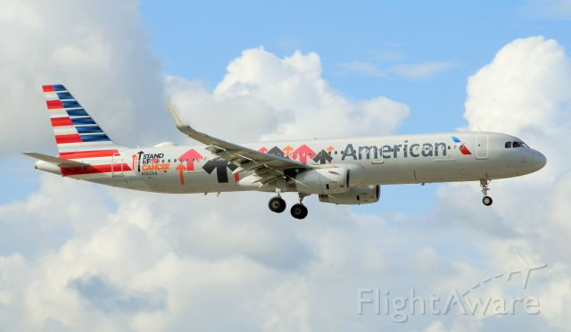 """Airbus A321 (N162AA) - Stand Up To Cancer Livery (Something That all of us""""Can agree with!"""""""