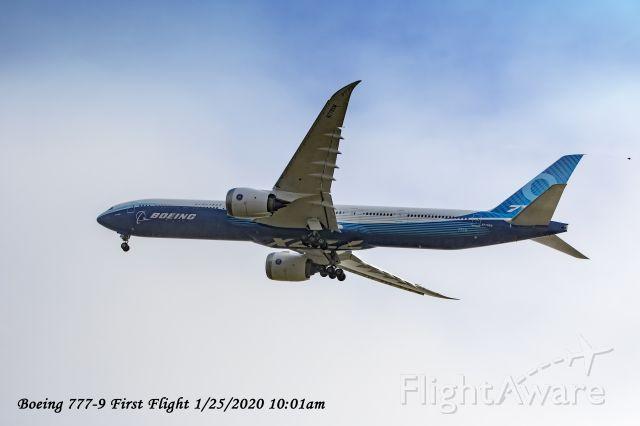 Boeing 777-200 (N779X) - Boeing 777-9 aka 777X first flight 1/25/2020 at 10:01am.