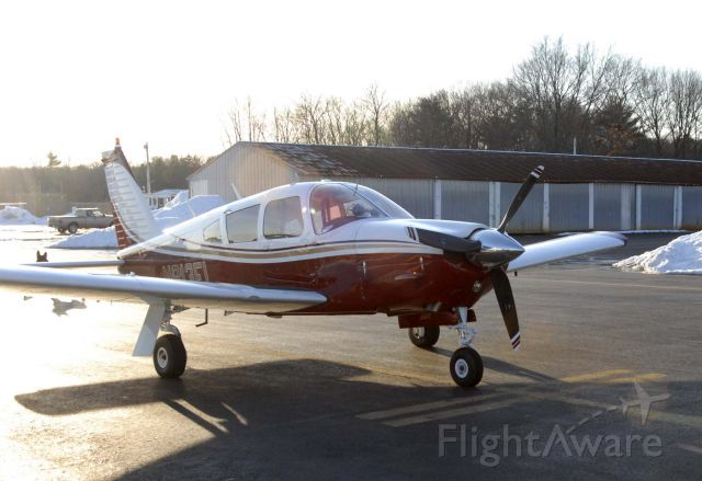 Piper Cherokee (N913FL) - Our Arrow parked at the pumps, with a fresh new paint job.