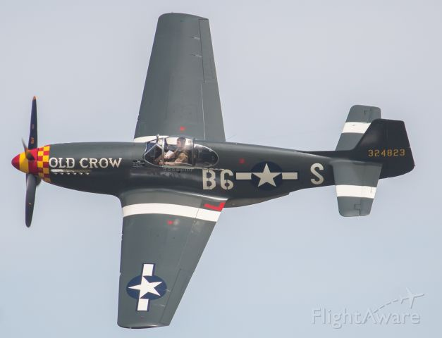 N551E — - 1 of a few Jack Roush's P-51's, this one is a P-51B and it's pictured here giving the crowd at Thunder Over Michigan 2019 a knife edge pass.
