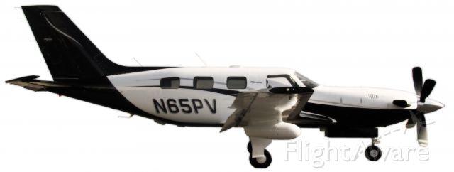 Piper Malibu Meridian (N65PV) - Meridian on a white background