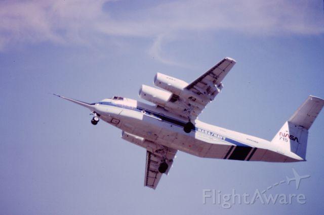 Piper Seneca (N715NA) - NASA's QSRA at Moffett Field Airshow 1981.