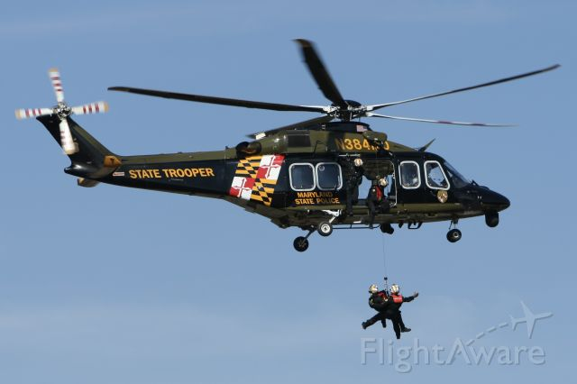 BELL-AGUSTA AB-139 (N384MD) - March 10, 2021 - doing hoist training