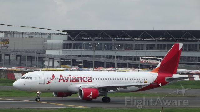 Airbus A320 (HC-CJV) - FOTO TOMADA EN AEROPUERTO JOSE JUAQUIN OLMEDO, GUAYAQUIL, ECUADOR.br / POR SPOTTER JULIO VILLARROEL