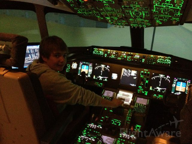 BOEING 777-200LR — - Me in a 777-200LR simulator