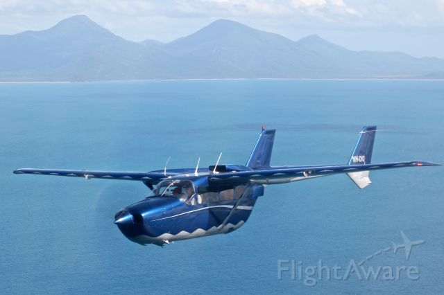 Cessna Super Skymaster (VH-OIQ) - Further offshore to the edge of the continental shelf on the Great Barrier Reef with OutbackOvernight.com