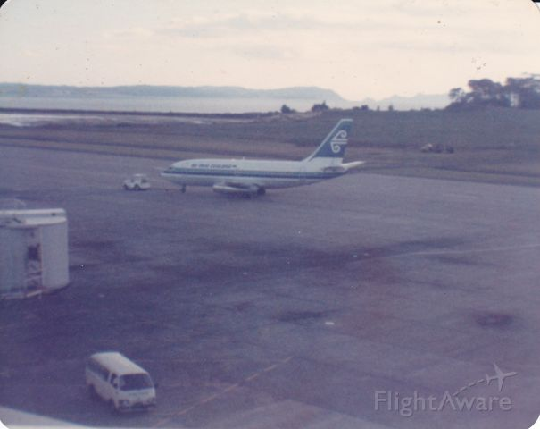 Boeing 737-200 (ZK-NAR) - My Rare photo collection of this little B732 on departure back in 1982 to Tonga from Auckland airport nice mild sunset before the terminal got busy with the heavies returning from over the tasman