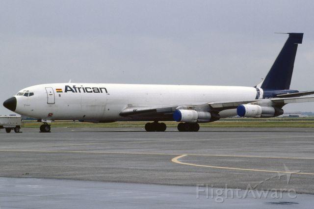 Boeing 707-300 (9G-ADM) - African Airlines International B707-321C (ex Pan Am N459PA) in July 1993 at Oostende
