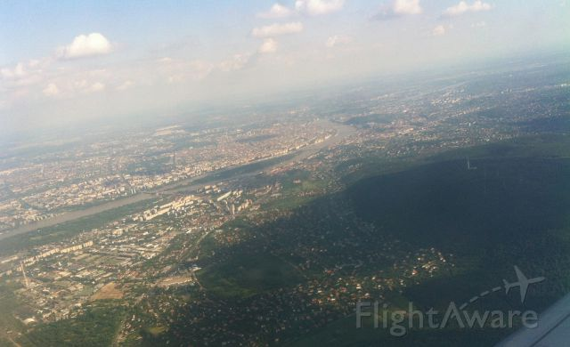 Airbus A320 — - Over the Danube at Budapest