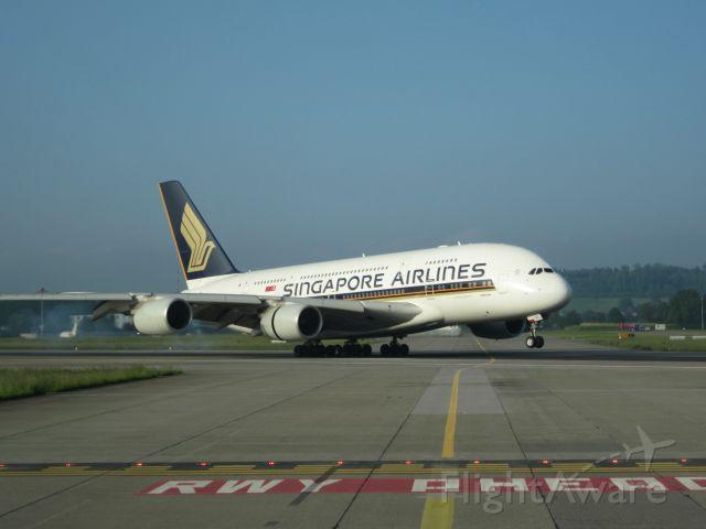 Airbus A380-800 — - Airbus A380 landing