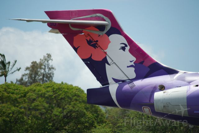 Boeing 717-200 — - Hawaiian Airlines famous tail.