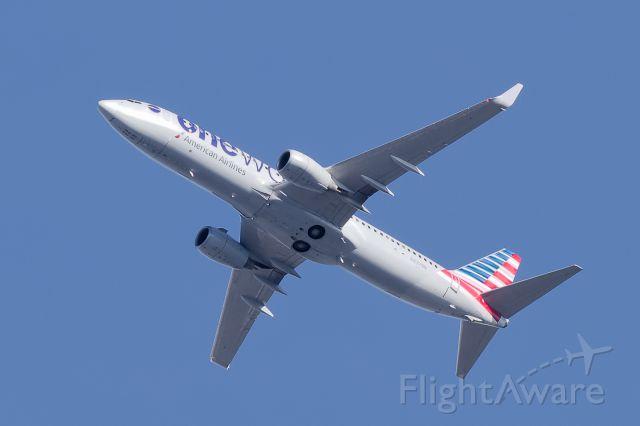 Boeing 737-800 (N837NN) - Flying over 78757
