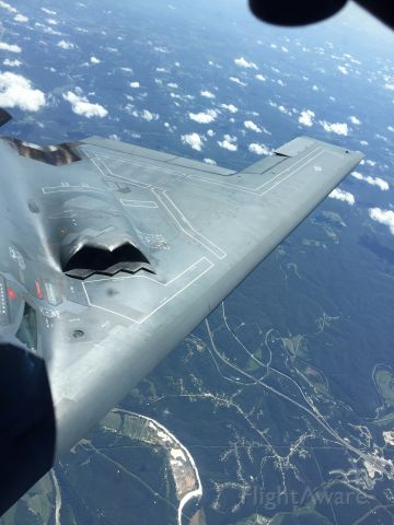 — — - Refueling practice over Missouri on beutiful July day with Ohio ANG.