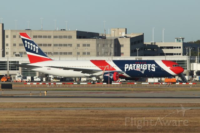 """BOEING 767-300 (N36NE) - New England Patriots 767 """"36 November Echo Heavy"""" rest on the ramp at T.F.Green waiting for the next Patriots road game. This is one of two the team has bought."""
