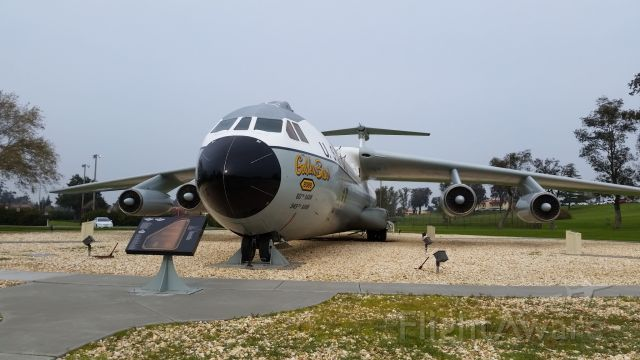 """Lockheed C-141 Starlifter (N38088) - The """"Golden Bear"""" on static display at Travis AFB, CA."""
