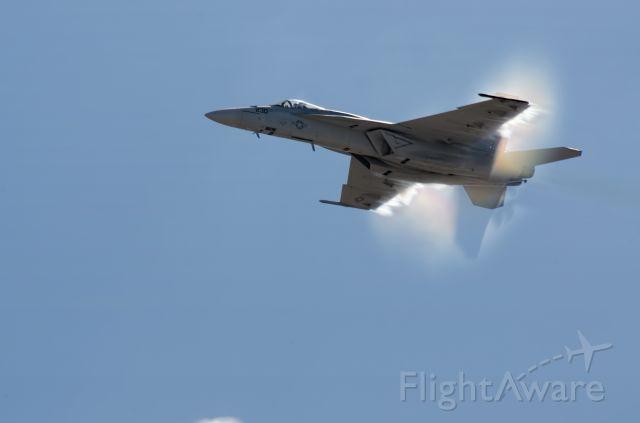 — — - FA-18 High speed pass at Marine Corps Air Station Miramar.