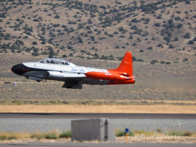 — — - 9/15/18 Canadair CT-133 taking off to pace the unlimited race at the Reno Air Races