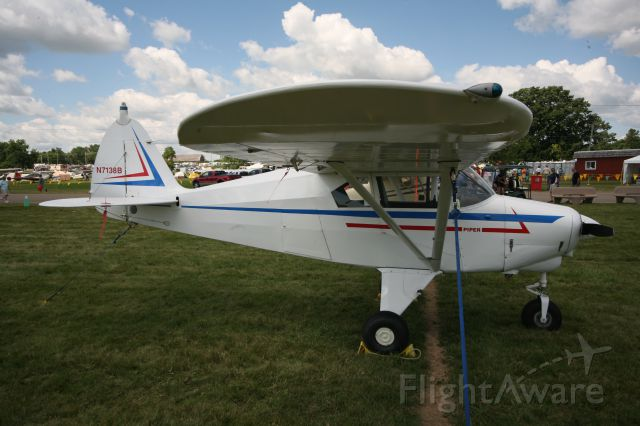 """Piper PA-22 Tri-Pacer (N7138B) - To see more photos from the 2013 EAA Airventure, click here- <a rel=""""nofollow"""" href=""""http://www.facebook.com/media/set/?set=a.10153121083865078.1073741840.283142505077&type=1&l=dc84cd9463"""">https://www.facebook.com/media/set/?set=a.10153121083865078.1073741840.283142505077&type=1&l=dc84cd9463</a>"""