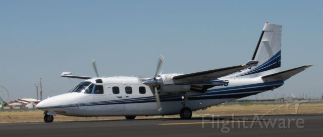 Rockwell Turbo Commander 690 (N77HS) - N77HS taxiing to the Air Attack Base after a fire dispatch.