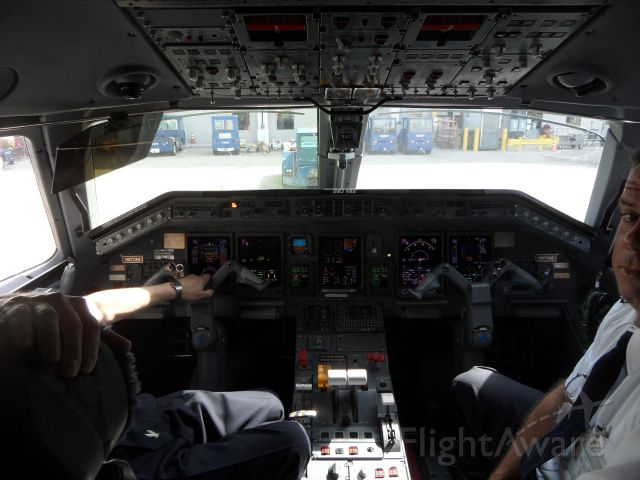 Embraer ERJ-145 (N677AE) - Thanks to the Captain and First Officer for this photo opportunity!