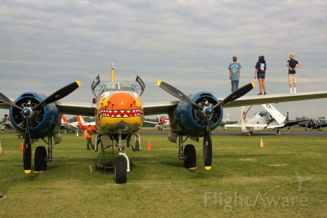 ON MARK Marksman (N99420) - Wing watchers on the Douglas A-26...............