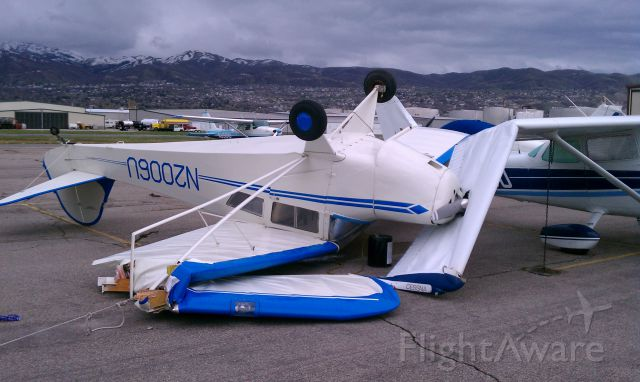 N2006U — - 70 MPH gusts ripped this newly restored Taylorcraft from it