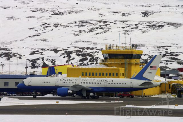 N80001 — - US Air Force flight just landed in Iqaluit, Nunavut for the Arctic Council Meetings Boeing C-32 is a military passenger transportation plane