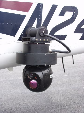 Cessna 206 Stationair (N2446X) - This is the Flir system mounted on the side of the WSP Cessna.