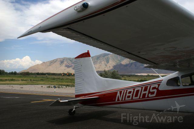 Cessna Skywagon 180 (N180HS) - Fuel stop at KTVY, Tooele Valley, Utah.  Shot 9 Aug, 2008