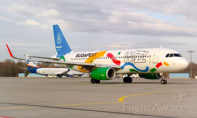 Airbus A320 (HA-LYG) - Budapest Olympic Bird 2024 livery