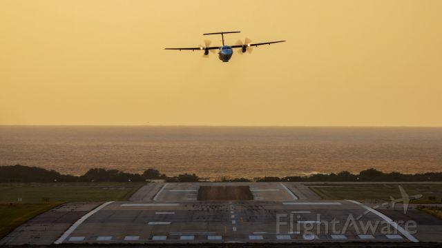 de Havilland Dash 8-100 (PH-CGB) - Performing a flyby