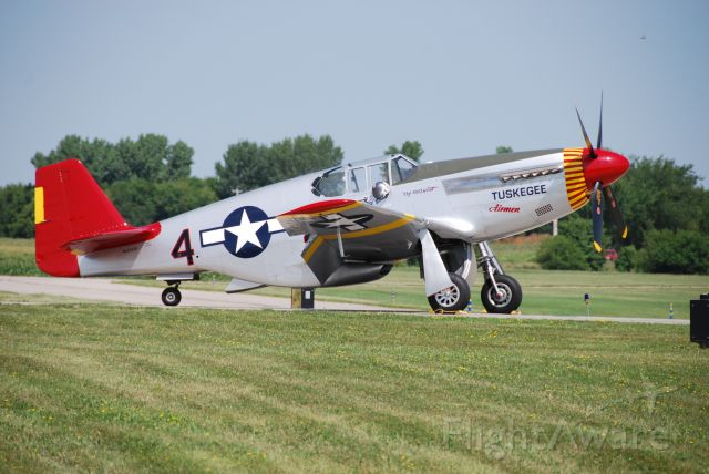 SAI61429 — - A very rare P-51C about to fly a routine at Fly Iowa 2019.