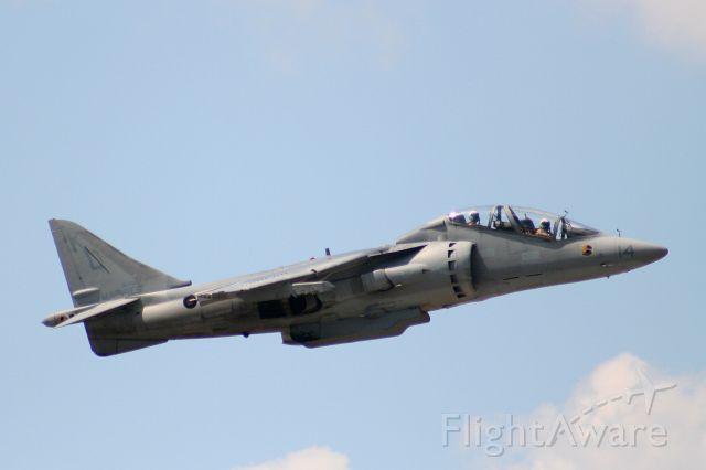 16-4113 — - A two seat Harrier departs KFSM.